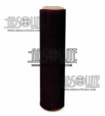 "Absolute USA Single Original Roll Black Plastic Film Pallet Shrink Wrap 18"" 1500"