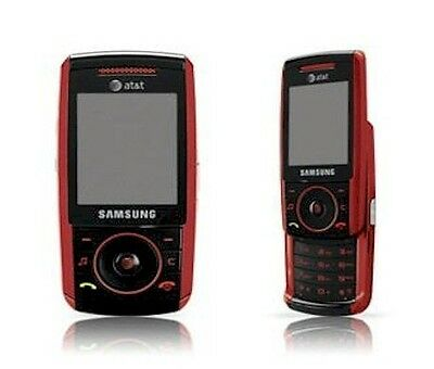 Samsung SGH A737 Slider Cell Phone AT&T GSM 3G Cellular Camera No Contract RED