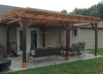 Covered Pergola Plans Design, DIY How to build 12'x24' Step by Step Instructions