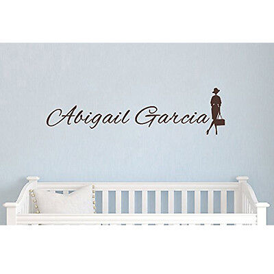 Fashion Girl Name Abigail Garcia Brown Graphic Personalized Kid's Room Wall Art