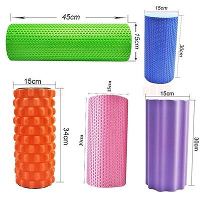 EVA Yoga Pilates THERAPY Fitness Foam Roller Massage Excercise Workout  Gym De