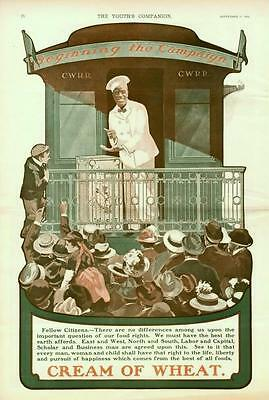 Cream of Wheat - Beginning the Campaign  -  Large Full Page  -   1904