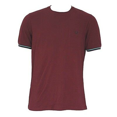 Fred Perry Shirt Men (M3292) Pocket 100% Authentic Size XL New