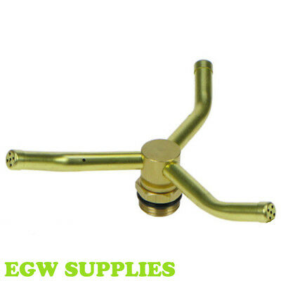 Brass 3 Arm Sprinkler Head Irrigation Lawn Garden Watering Darlac DW325