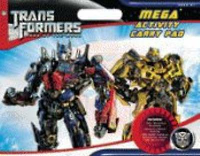 TRANSFORMERS Mega Activity Carry Pad DARK OF THE MOON Stickers Colouring Games