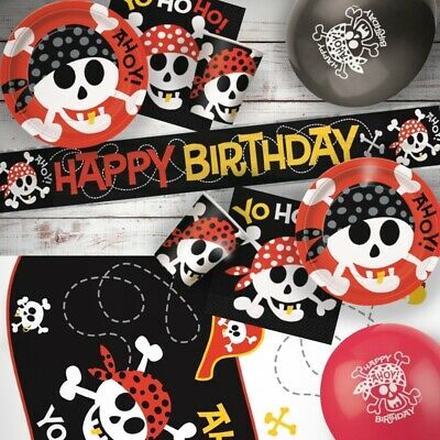 Pirate Skull and Sword Party Hats | Favours 1-48pk