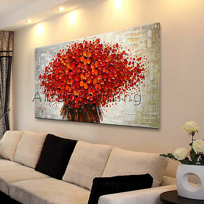 Modern Abstract Flower Canvas Wall Art hand Painted Oil Painting Large Canvas