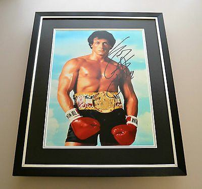 Sylvester Stallone Signed Photo Large Framed Autograph Display Rocky Film + COA