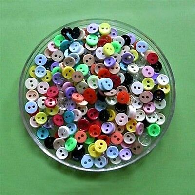 200 Wholesale Lot Mini Micro Doll Clothing Tiny Mixed Lot Sewing Buttons 6mm 10L