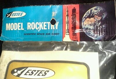 RARE Vintage NOS Estes Flying Model Rocket Kit THOR AGENA-B K-28 Mint Sealed 70s