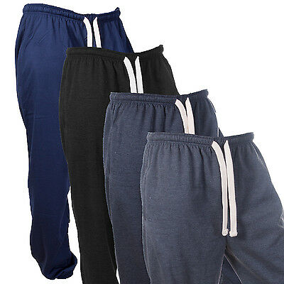 Mens Fleece Jogging Track Pants Joggers Tracky Pant Warm Jog Bottoms Gym Sweats