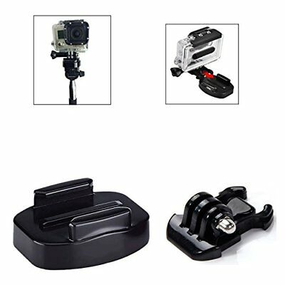 Phot-R Quick Release Buckle Flat Tripod Mount Base Kit for GoPro HD Hero 5 4 3+