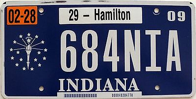 2009 INDIANA Torch graphic license plate # 684NIA