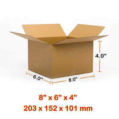 """SINGLE WALL POSTAL MAILING CARDBOARD BOXES 8"""" x 6"""" x 4"""" CHEAPEST ON EBAY EVER"""