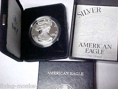 Proof 2001-W American Eagle Silver Dollar .999 Fine Silver 1 Ounce - fmc777