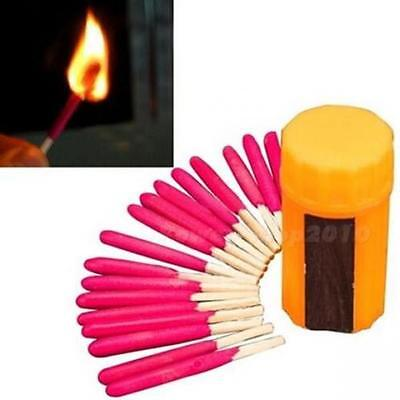 New Camping Hiking Emergency Survival Windproof Stormproof Matches Case Kit