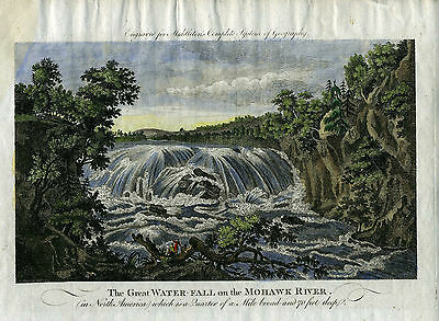 """Genuine Antique print """"The Great Water-Fall on the Mohawk River"""". Middleton"""