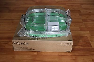NIP The Pampered Chef Cool & Serve Square Tray (6 Pieces) 2292