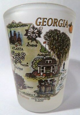 GEORGIA MAP SHOT GLASS SHOTGLASS