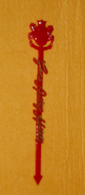 Gene Autry Hotels Red with gold detail vintage Swizzle Stick+