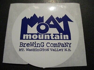 MOAT MOUNTAIN BREWING COMPANY circle STICKER label decal craft beer brewery