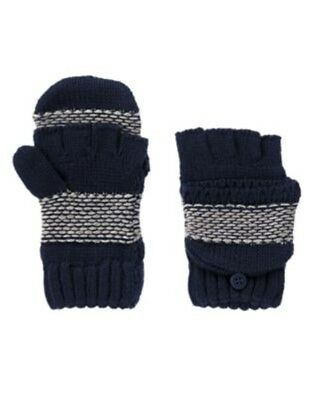 Gymboree S'more Style Navy Birdseye Convertible Sweater Gloves 7 8 10 12 Nwt-Ot