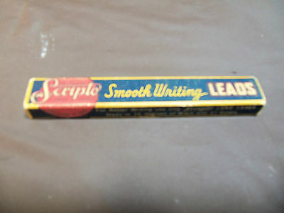 VINTAGE SCRIPTO SMOOTH WRITING LEADS EMPTY BOX WOOD INSERT