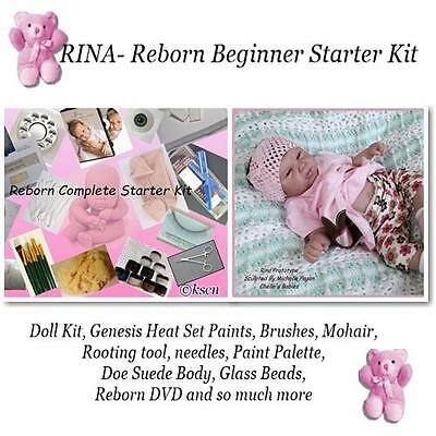 reborn kit to make your own baby doll Rina, w/ supplies, DVD, Paints, kit, eyes