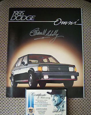 Carroll Shelby autgraphed 1986 Dodge Omni GLH jumbo color brochure - rare find!