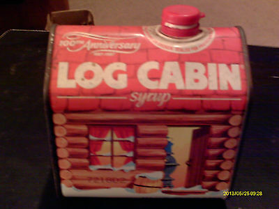 Log Cabin Tin 100th anniversary