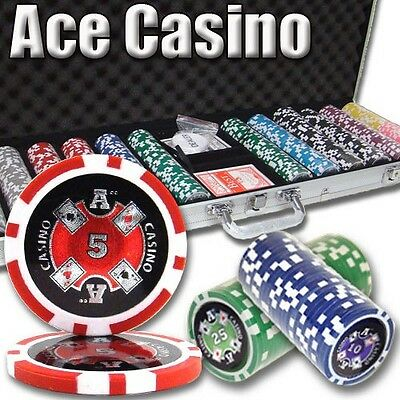 New 600 Ace Casino 14g Clay Poker Chips Set with Aluminum Case - Pick Chips!