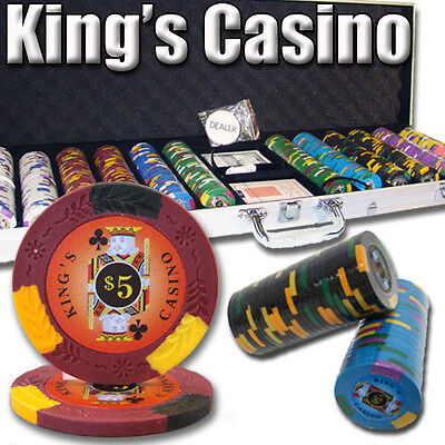 New 600 Kings Casino 14g Clay Poker Chips Set with Aluminum Case - Pick Chips!