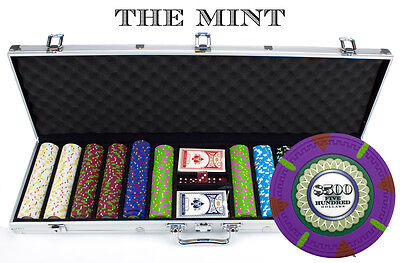 New 600 The Mint 13.5g Clay Poker Chips Set with Aluminum Case - Pick Chips!