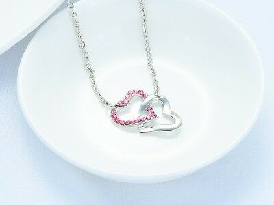 Free Shipping! Womens 9K White Gold Filled & AAA CZ Necklace with Pendant J-F179