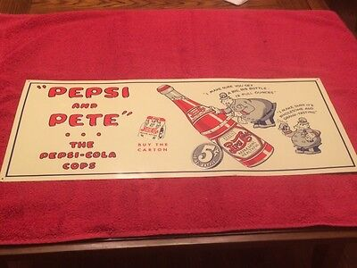 Pepsi and Pete 1940's cops sign