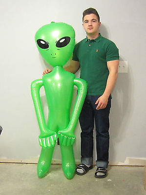 "36/"" GOLD ALIEN INFLATE INFLATABLE 3 FEET BLOW UP PROP GAG GIFT HALLOWEEN PROP"