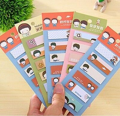 FD923 Useful 120 pages Sticky Notes Sticker Bookmarker Memo Pad ~Random 1pc:)