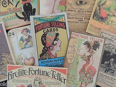Lot of 12 ~ VINTAGE Halloween FORTUNE TELLER Die Cuts 4 CARDS~ H41 FREE SHIP
