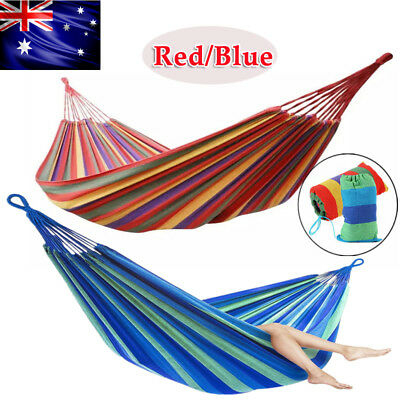 Portable Cotton Rope Outdoor Swing Chair Camping Hammock Canvas Bed with Bag