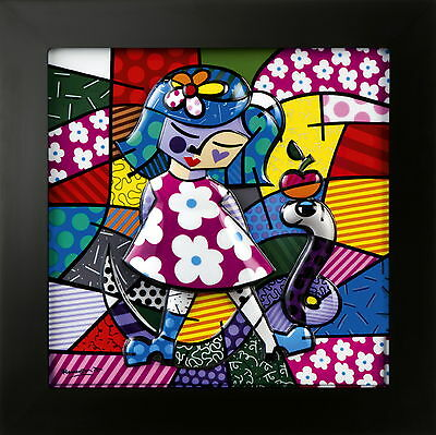 "ROMERO BRITTO - POP ART aus Miami - ""GIRL WITH SNAKE"" - LED Reliefbild 3D - NEU!"