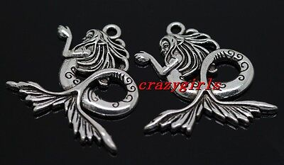 6pcs exquisite Tibet Silver God of sea Charm Pendant 29mm(Lead Free)