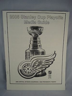 2006 Detroit Red Wings NHL Stanley Cup Playoffs Media Guide