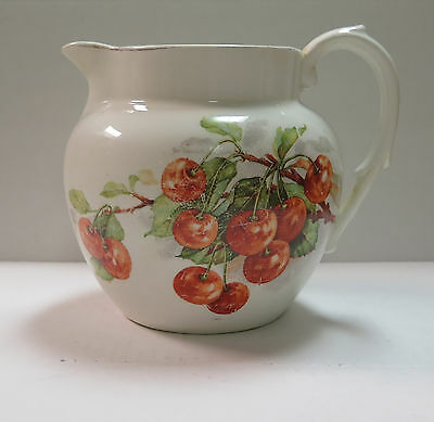 Semi Vitreous Edwin M Knowles c.1900's Cherry Pitcher