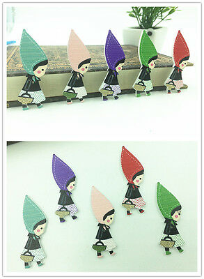 NEW 20PCS Mix  - the little girl Wooden Buttons Fit Sewing and Scrapbook 50x17mm