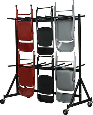 Hanging Chair Cart Dolly 80 to 120 Chair Capacity - Steel Folding Chair Dolly