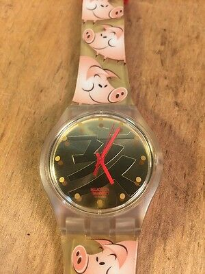 Swatch Watch Year of the Pig Chinese Running Very Nice