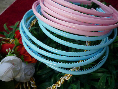WHOLESALE LOT OF 12 PIECES PINK AND BLUE HAIR BAND HEADBAND.