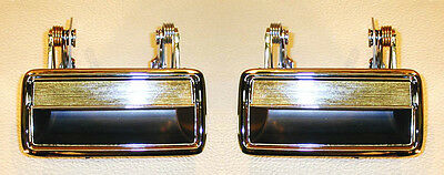 NEW 1971-1973 Ford Mustang Chrome Outside Door Handles Both Left and Right Pair