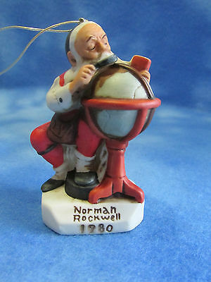 Norman Rockwell Santa Ornament