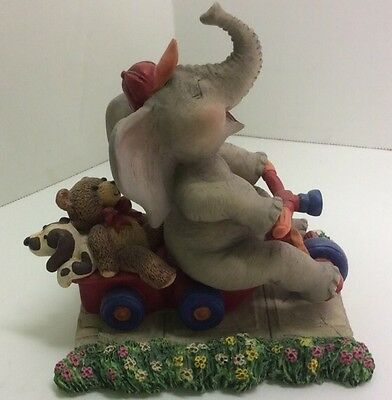 Peanut Pals Sidewalk Speedster elephant figurine Tom Newsom Hamilton Collection